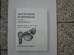 Noctuidae Europaeae Volume 4 Hadeninae I: Hacker Hermann, Ronkay Laszlo, Hreblay Marton