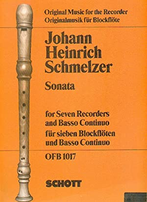 Sonata. for Seven Recorders and Basso Continuo,: Schmelzer, Johann Heinrich