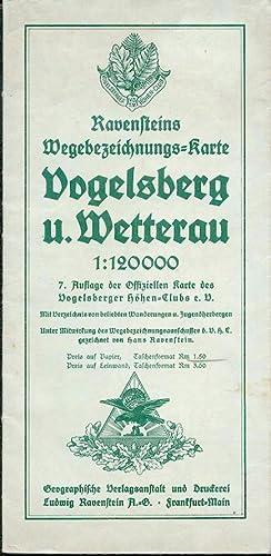 Ravensteins Wegebezeichnungs-Karte Vogelsberg u. Wetterau 1:120000 7.: Ravenstein/
