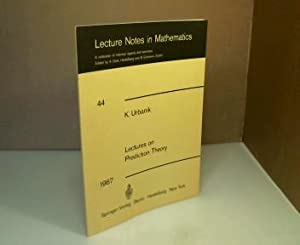 Lectures on Prediction Theory. Delivered at the: Urbanik, K. and