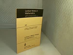 Lectures in Modern Analysis and Applications II.: Glimm, J. et