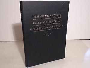 Erste Mitteilungen des Neuen Internationalen Verbandes für: NIVM - Neuer