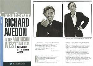 In the American West 1979-1984. Faltblatt /: Avedon, Richard: