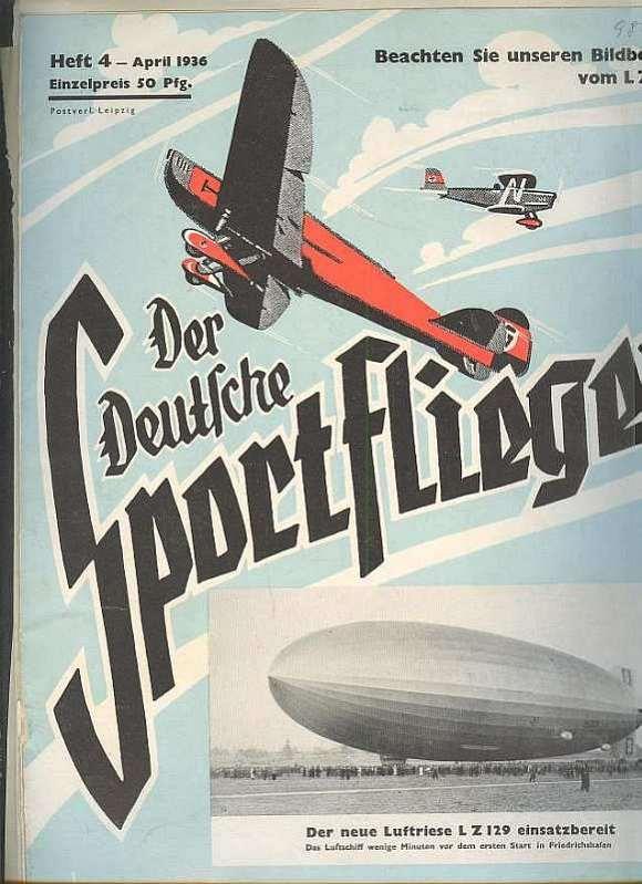 """Zeppelinkonvolut meist aus unterschiedlichen Heften """"der deutsche"""