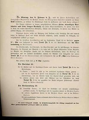 Kleiderordnung/Anfahrtsordnung f. Kaiserl. Ball 8.2.1904 im Schloß