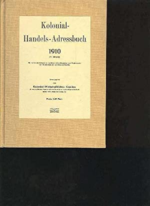 Kolonialwirtschaftliches Komitee Kolonial Handels Adressbuch 1910, 14.
