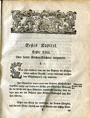 Abhandlung von Kirchen-Matriculn wie solche nach denen ergangenen Vorschriften im Herzogthum ...