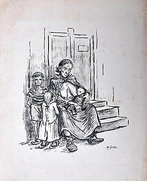 o. T. [Hunger]. Gedruckte Signatur.: Zille, Heinrich ,