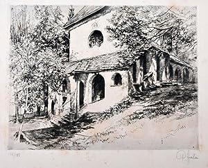 o. T. [Kapelle St. Anton bei Garmisch-Partenkirchen] 102/110 [verbessert aus: 100]. Mit Bleistift ...