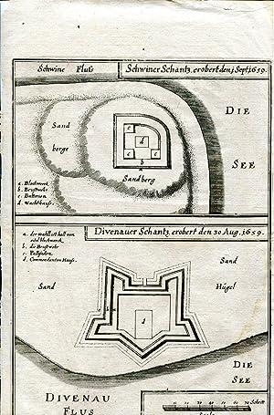 Schwiner Schantz. erobert den 1. Sept. 1659 / Divenauer Schantz. erobert den 30. Aug. 1659. Zwei ...