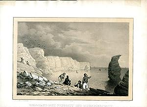 Helgoland mit Junggatt und Moermersgatt. Gez. u. lith. v. C.W.Arldt. Gedr. v. F. Weider. II.S. ...