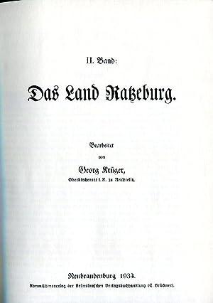 Kunst- und Geschichts-Denkmäler des Freistaates Mecklenburg-Strelitz. Band 2: Das Land Ratzeburg. ...