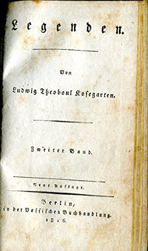 Legenden. Neue Auflage. 2 Bdd.: Kosegarten, Ludwig Theoboul.