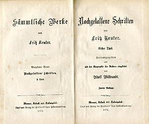 Sämmtliche Werke. Mischauflage. 14 (von 15) Bdd.: Reuter, Fritz.