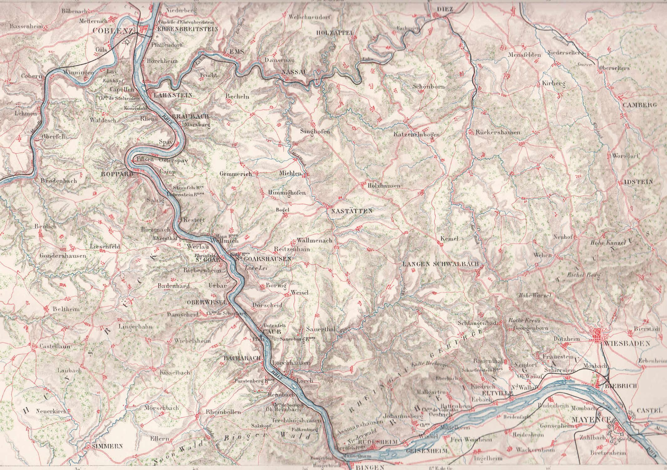 Karte Koblenz.Karte