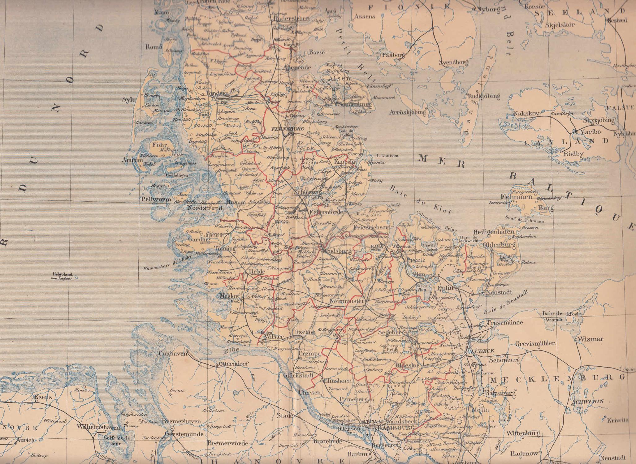 Schleswig Holstein Karte.Karte Schleswig Holstein Von Schleswig Holstein Zvab