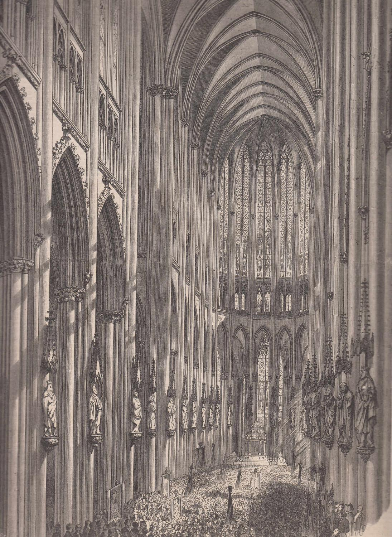 Restaurierung Köln der kölner dom das hauptschiff nach seiner restaurierung ansicht