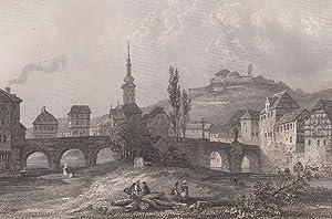Ansicht mit der alten Nahebrücke und der: Bad Kreuznach,