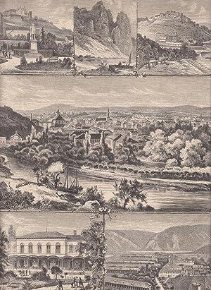 Sammelblatt mit 6 Abbildungen. Zeigt: 1. Große: Bad Kreuznach,