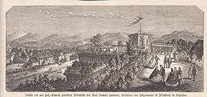 Ansicht der mit Holz-Zement gedeckten Weinhalle des: Hirschberg (Jelenia Góra)/Schlesien,