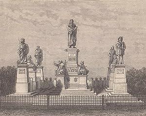 Ansicht des Das Lutherdenkmals.: Worms,