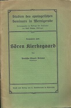 Sören Kierkegaard.: Kierkegaard, Sören. -