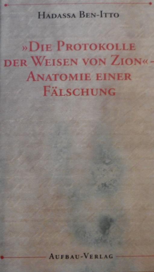 die protokolle der weisen von zion, Erstausgabe - ZVAB