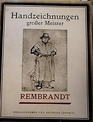 Vierundzwanzig Kupfertiefdrucke. Rembrandt. Mit einleitendem Text v.: Leporini, Heinrich(Hrsg.).