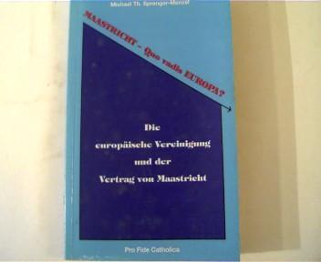 Der Vertrag Von Maastricht Zvab