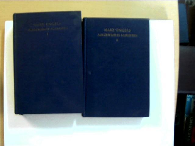 2 Bücher: Marx & Engels Ausgewählte Schriften: Marx, Karl und