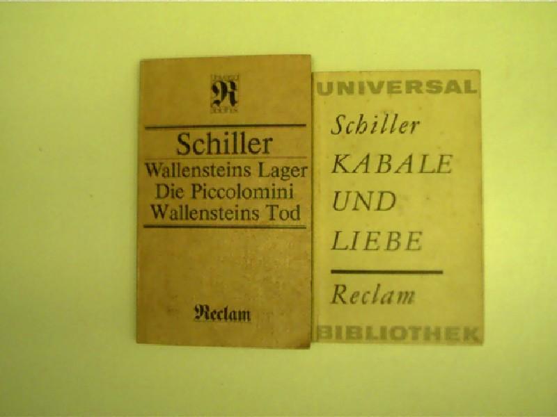 2x Reclam-Ausgaben: Schiller - 1.) Kabale und: Schiller, Friedrich: