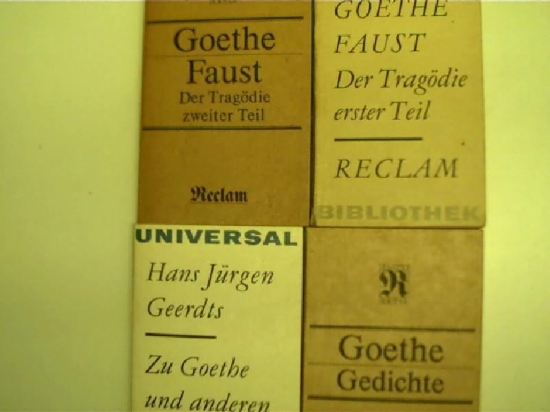4x Reclam Goethe 1 Gedichte 2 Faust