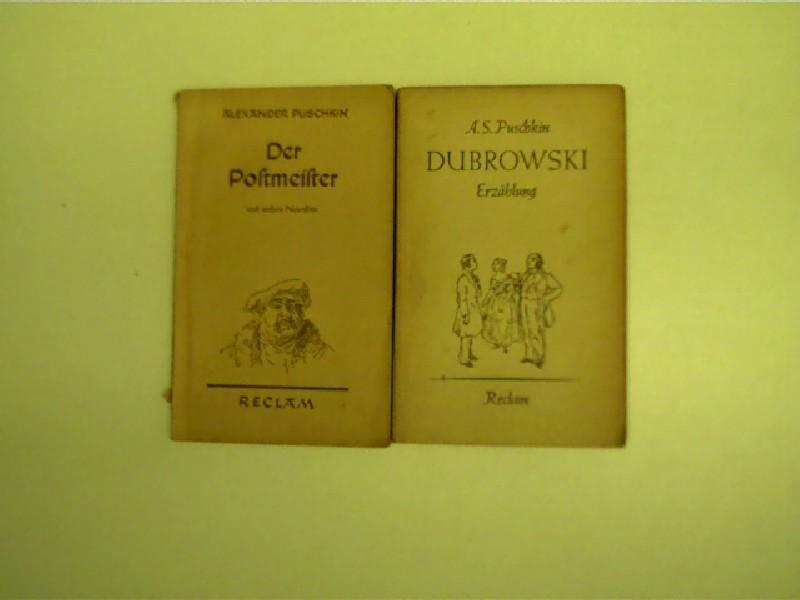 2x Reclam-Ausgaben von Alexander Sergejewitsch Puschkin -: Puschkin, Alexander Sergejewitsch: