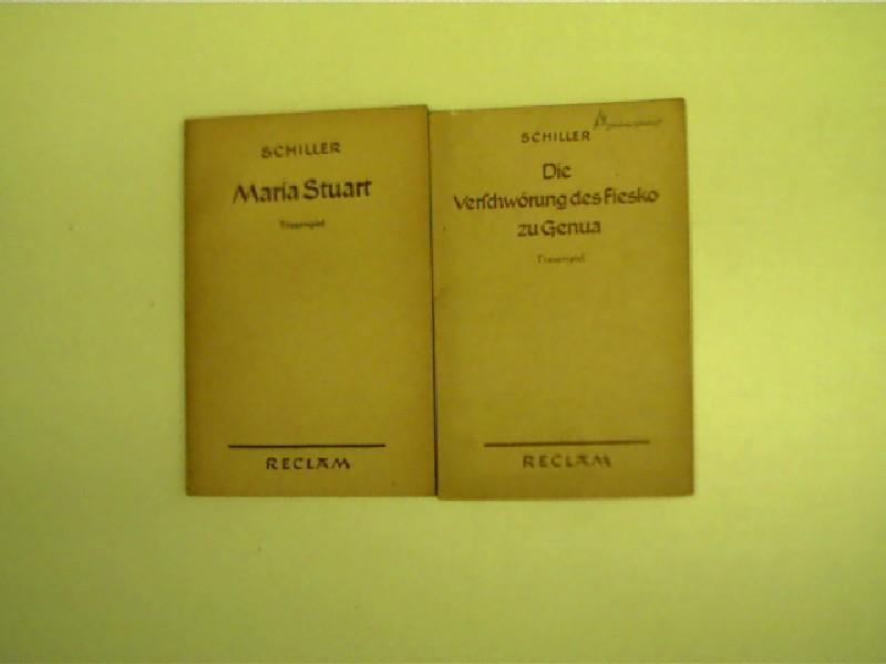 2x Reclam-Ausgaben von Friedrich von Schiller ---: Schiller, Friedrich von: