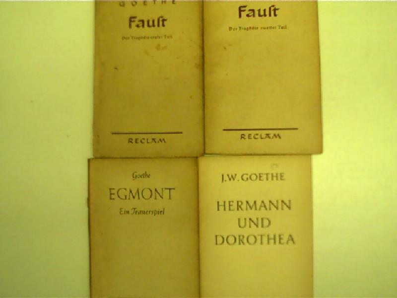 4x Reclam-Ausgaben von Johann Wolfgang von Goethe: Goethe, Johann Wolfgang