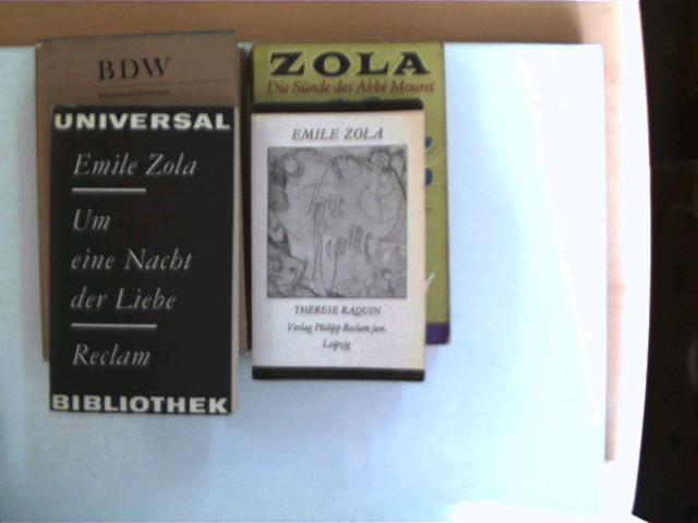 4 Bücher des franzsöischen Schriftstellers Emile Zola,: Zola, Emile :