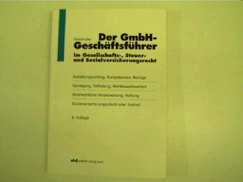 Der Gmbh Geschäftsführer Im Von Brandmüller Zvab