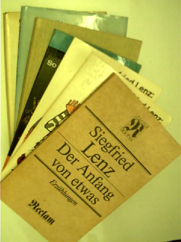 7x Bücher von Siegfried Lenz: 1. So zärtlich war Suleyken + 2. Exerzier-Platz + 3. Heimatmuseum .,