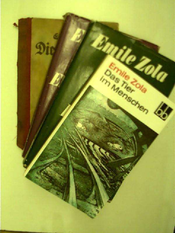 4x Bücher von Emile Zola: 1. Die: Zola, Émile: