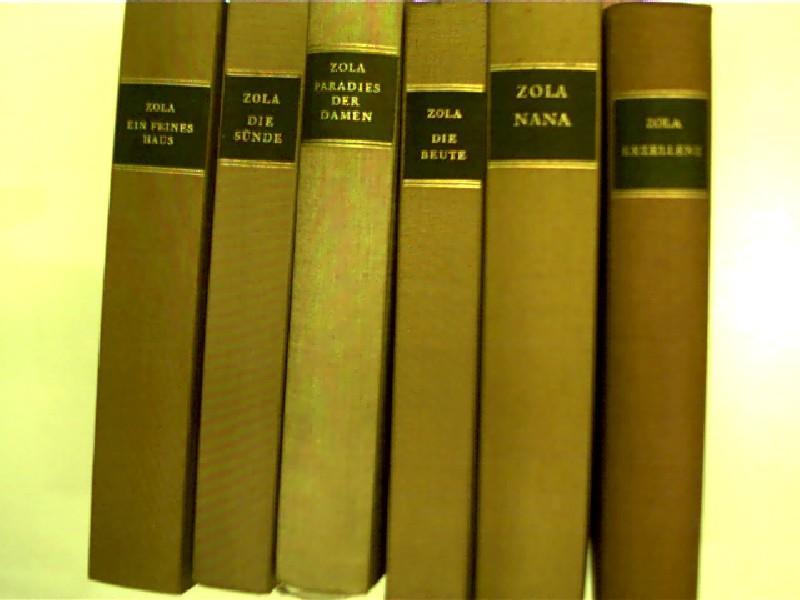 6x Bücher von Emile Zola: 1. Ein: Zola, Émile: