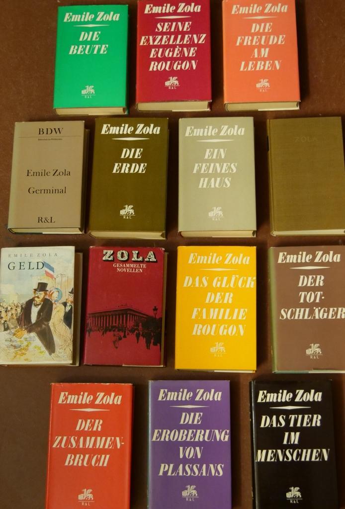 14x DDR - Bücher von Emile Zola: Zola, Émile: