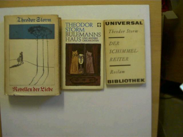 3 Bücher vom Autor Theodor Storm in: Storm, Theodor: