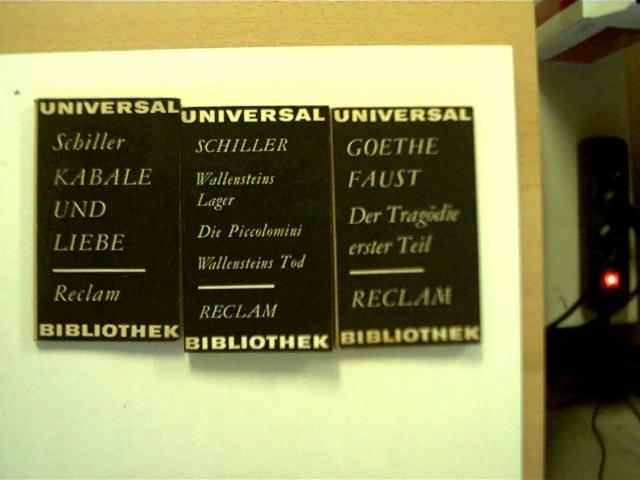 """2 Bücher aus der Reihe """"Reclams Universal-Bibliothek"""": Schiller, Friedrich und"""