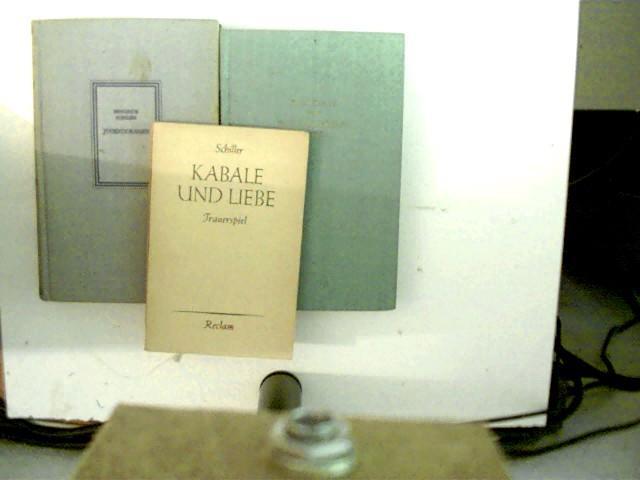 3 Bücher des deutschen Autors Friedrich Schiller: Schiller, Friedrich: