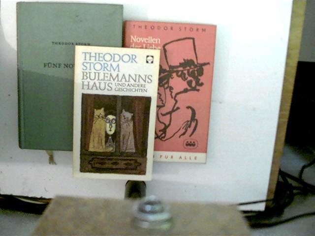 3 Bücher des deutschen Autors Theodor Storm: Storm, Theodor: