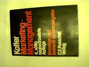 Marketing-Management, Analyse, Planung und Kontrolle,: Kotler, Philip: