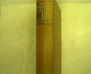 Meyers Universallexikon - Band 3, Lite -: Lexikonredaktion des Bibliographisches