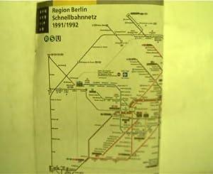 Linienplan - Regional Berlin, Schnellbahnnetz 1991/1992,: BVG Berlin:
