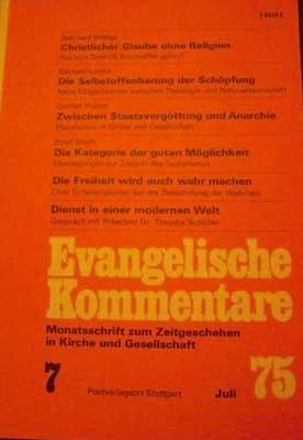 Evangelische Kommentare - 9. Jahrgang, Februar 1976,: Autorenkollektiv: