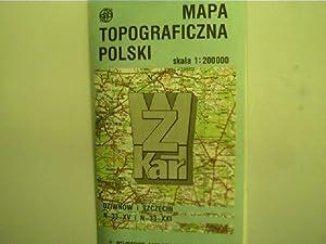 Mapa topograficzna polski - skala 1:200000, Dziwnow: Autorenkollektiv: